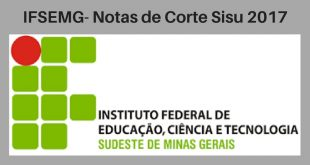Notas de Corte do Enem no IFSEMG
