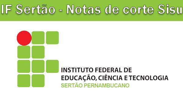 Notas de corte Sisu 2019 no IF Sertão