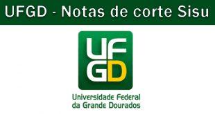 Notas de corte Sisu 2018 na UFGD