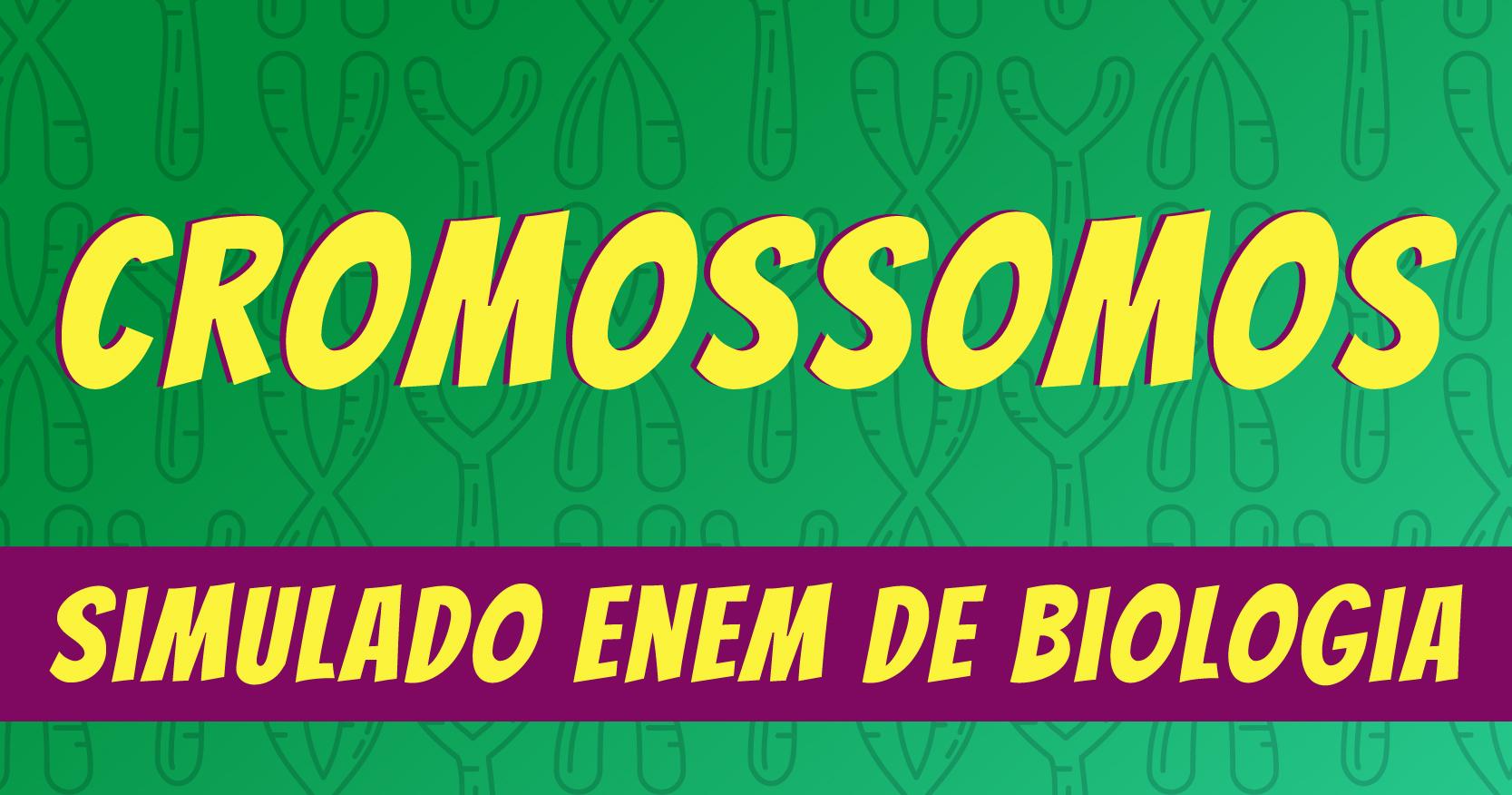 Simulado de cromossomos na biologia