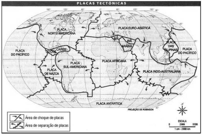 Placas tectônicas mapa
