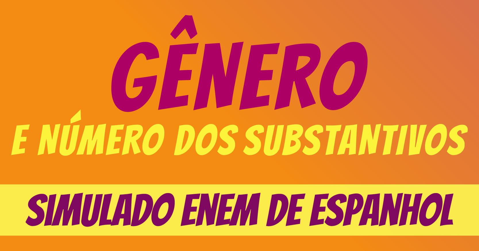 Simulado de gênero em espanhol