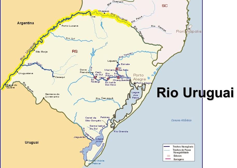 Veja os Rios da Bacia do Uruguai