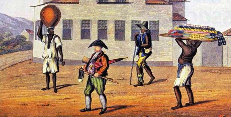 Um mascate e seu escravo - A Guerra dos Mascates. História Enem