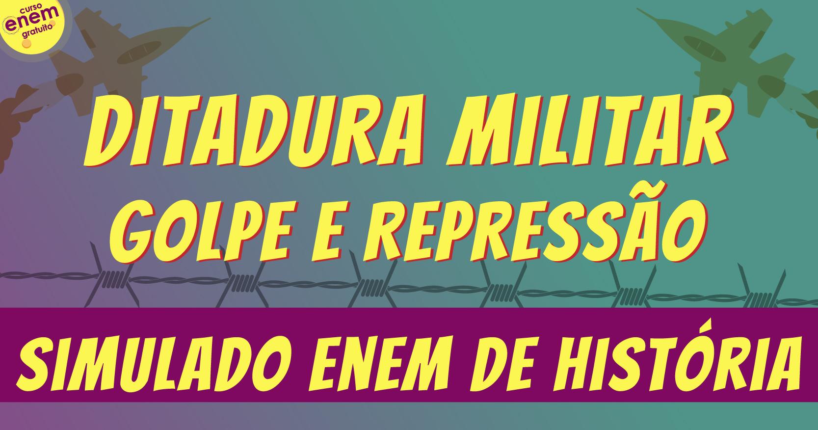 simulado de ditadura militar