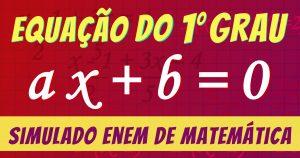 equação de primeiro grau simulado