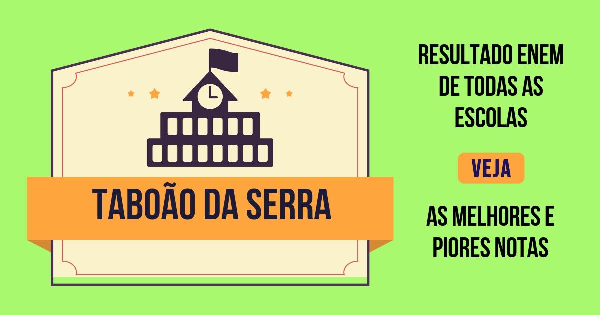 Resultado Enem Taboão da Serra