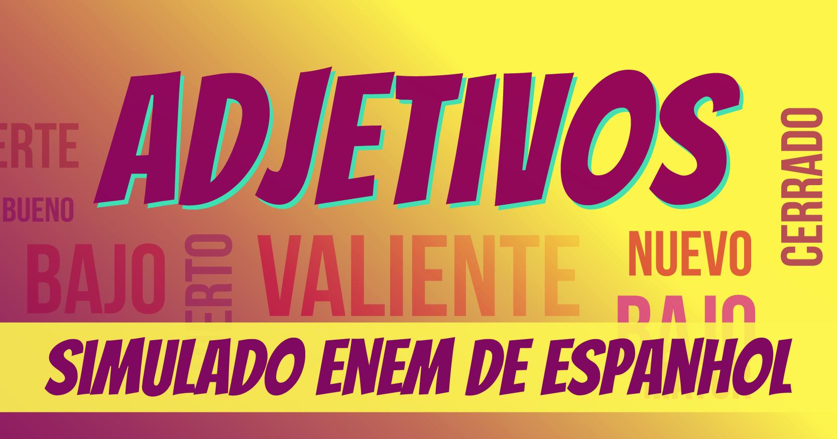 simulado de adjetivos em espanhol