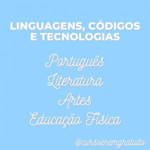 Linguagens, códigos e tecnologias Enem
