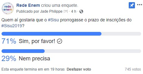 prazo do Sisu - Facebook