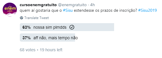 prazo do Sisu - Twitter