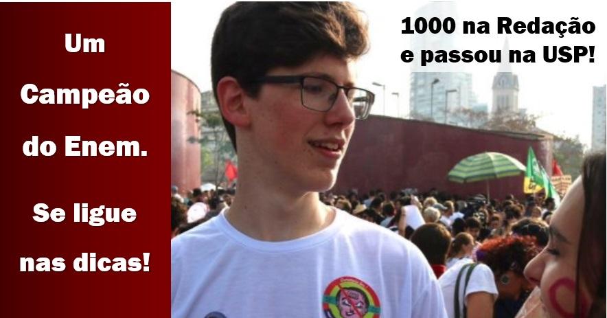 Redação Enem nota 1000 - Lucas Felpi