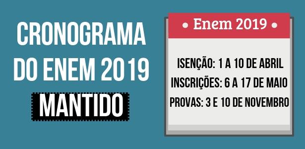 cronograma do enem 2019 mantido (1)
