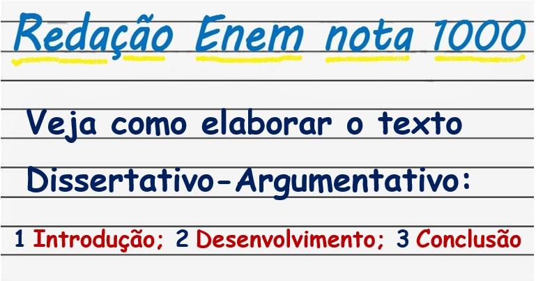 Como montar um texto argumentativo
