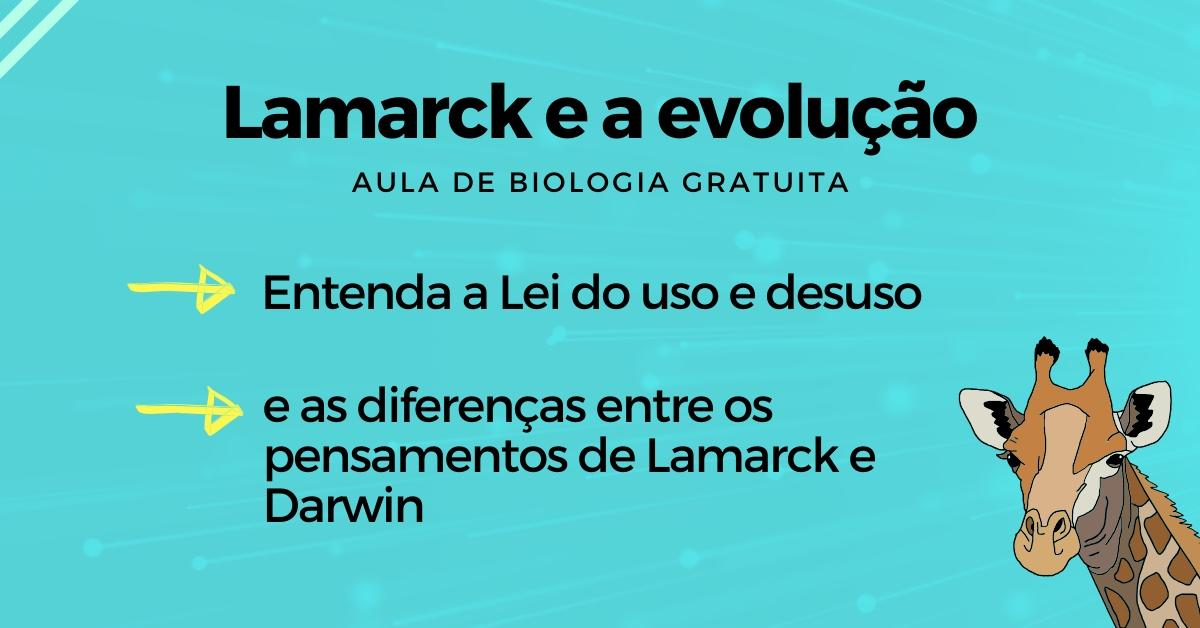 capa da aula sobre lamarck