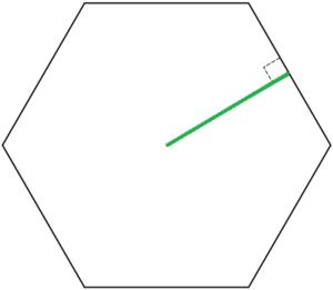 Apótema de um hexágono