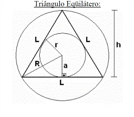 Triângulo equilátero - apótema