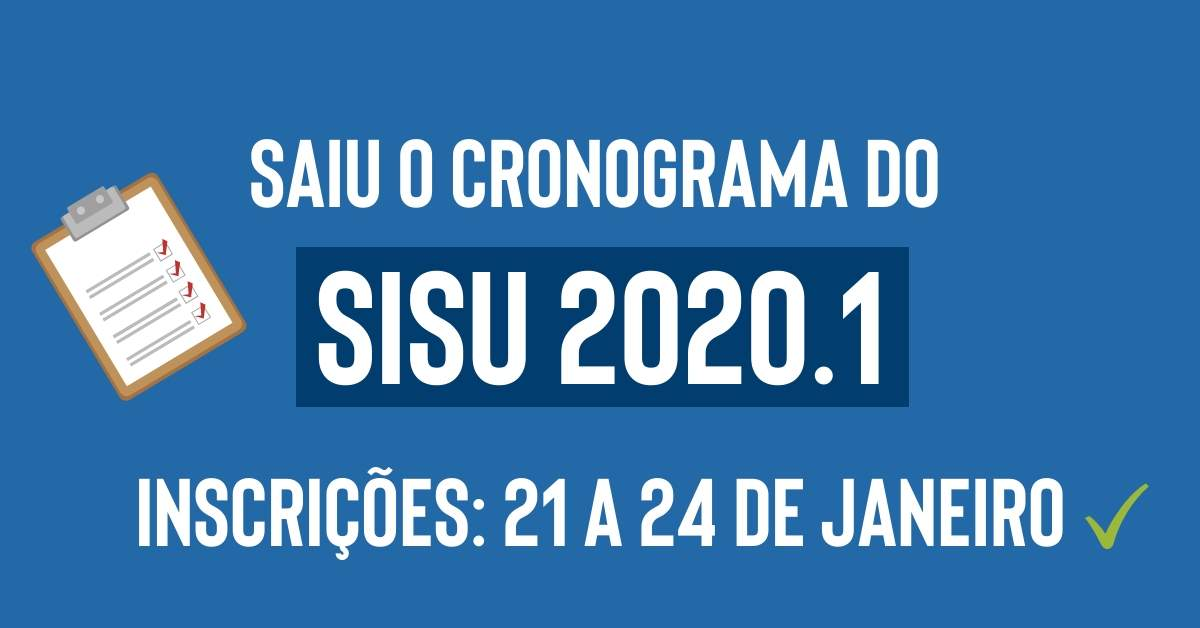 cronograma sisu 2020.1