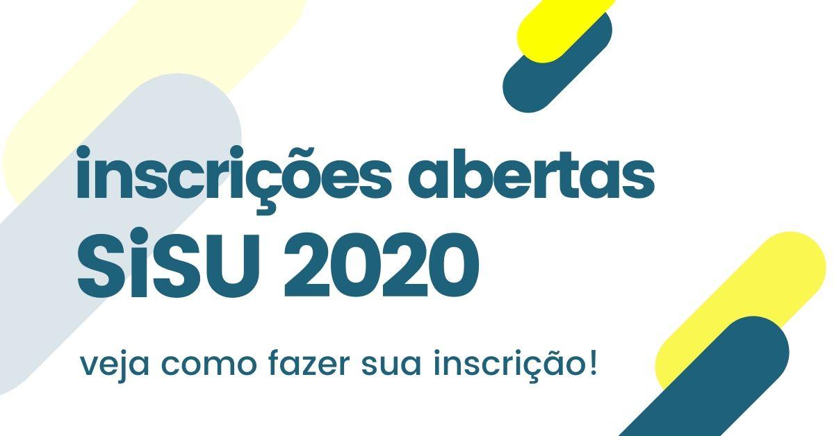 inscrição sisu 2020