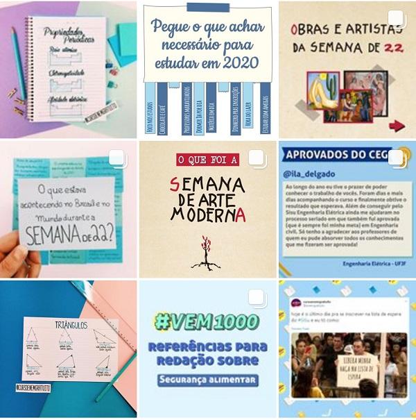 instagram do curso enem gratuito - aprovados sisu