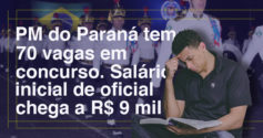 Concursos para PM do Paraná e de Piracicaba (SP)