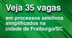 35 vagas em fraiburgo