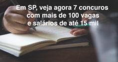 SP: veja 7 concursos e seletivos com inscrições abertas