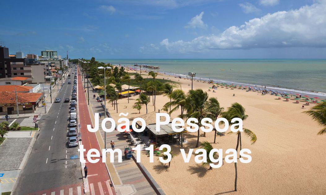João Pessoa: 113 vagas pelo Sine