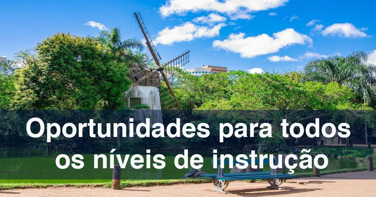 Em Porto Alegre há 299 vagas de trabalho abertas
