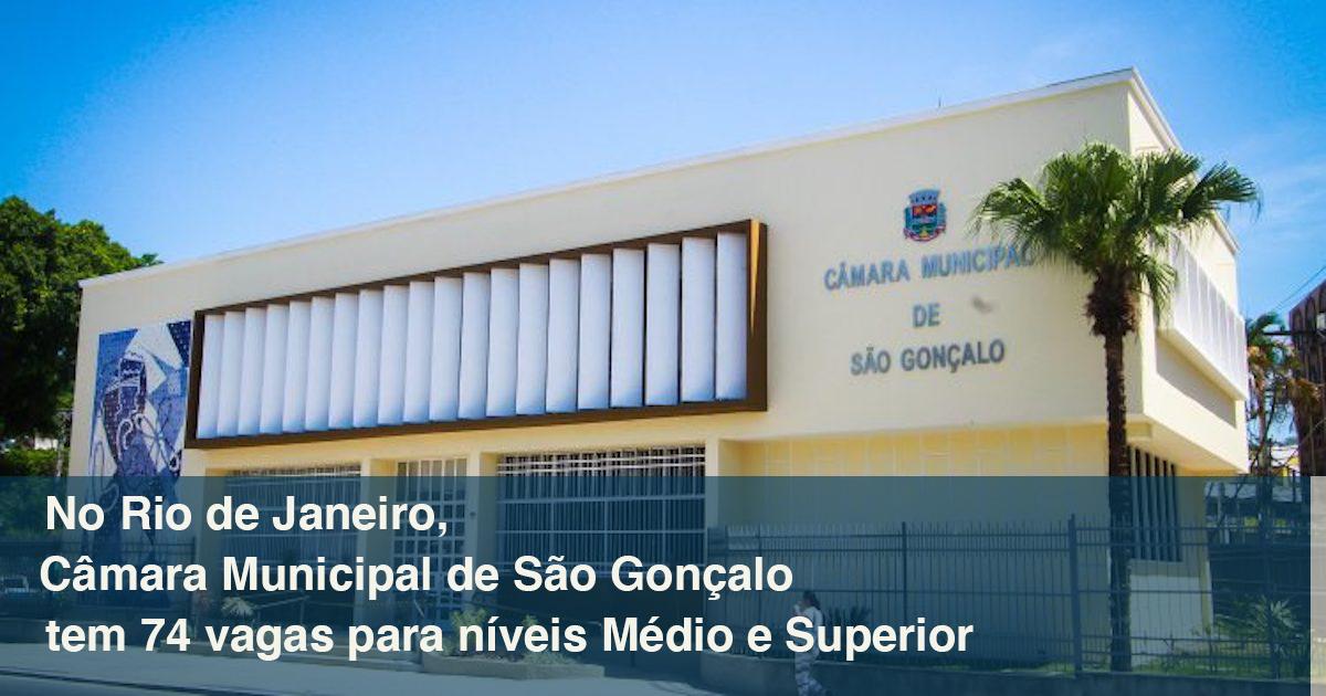 Concurso RJ: 74 vagas de níveis Médio e Superior em São Gonçalo