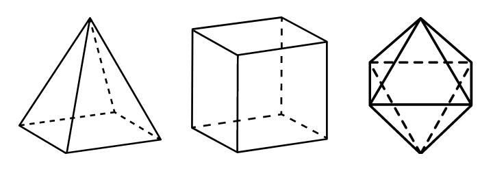 Poliedros - formas geométricas espaciais