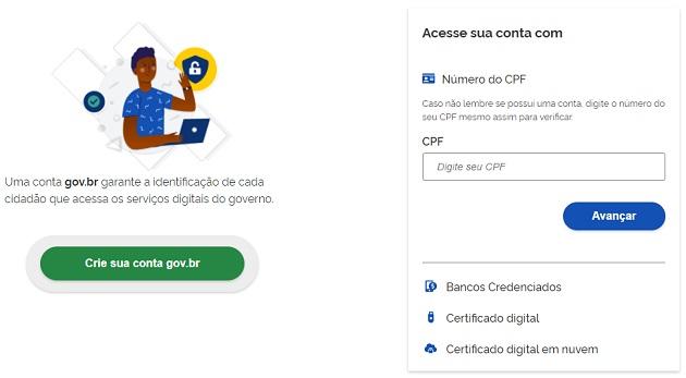 Conta no login único - Prouni 2021