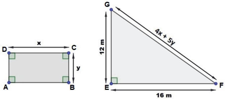Retângulo e triângulo
