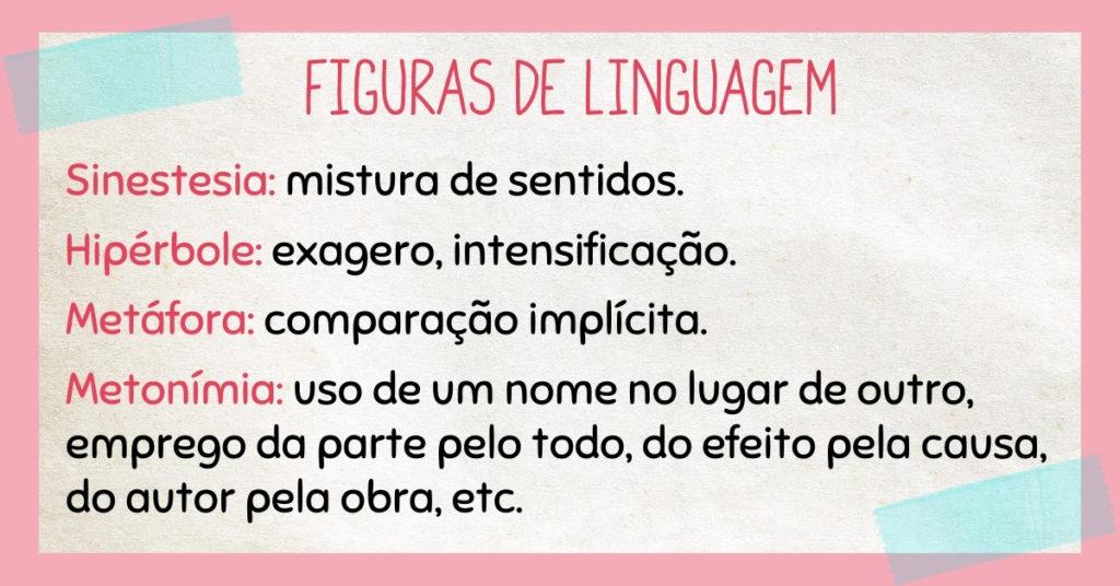 Exercícios sobre figuras de linguagem