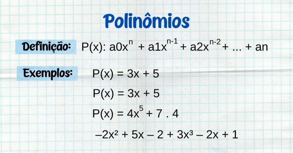 Exercícios sobre polinômios