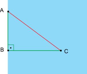 Triângulo retângulo - movimento uniforme