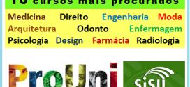 Os 10 cursos mais procurados no Sisu e no Prouni 2015 – Confira e se prepare para a próxima disputa.