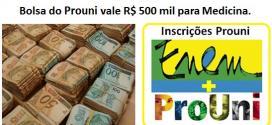 Medicina: Bolsa do Prouni vale R$ 500 mil. Inscrições Abertas.Confira