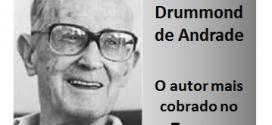 Enem – Obra de Drummond é a mais cobrada na prova de Linguagens