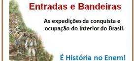 História Enem – Entradas e Bandeiras: expedições da conquista e ocupação do interior do Brasil. Veja!